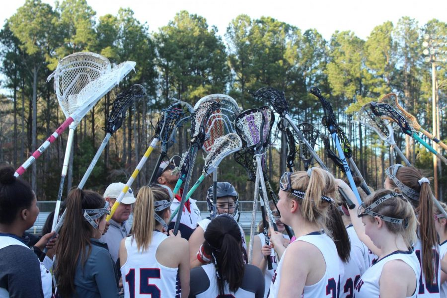 Girls Lacrosse Host Tri-6 Foes Cary on Senior Night