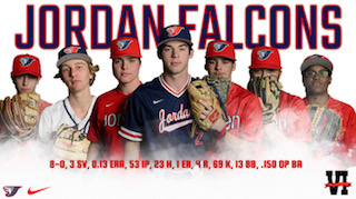 Jordan Baseball Drops to #4 in Latest Ranking